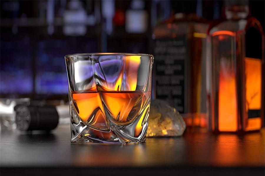 Ashcroft Fine Glassware Twist Whiskey Glasses